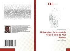 Capa do livro de Philosophie. De la mort de Hegel à celle de Paul Ricoeur