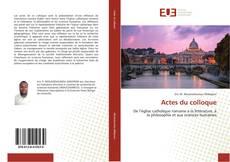 Buchcover von Actes du colloque