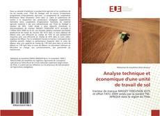 Copertina di Analyse technique et économique d'une unité de travail de sol
