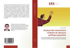 Bookcover of Analyse des interactions verbales du discours politique populiste