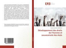 Copertina di Développement des droits de l'homme et souveraineté des états