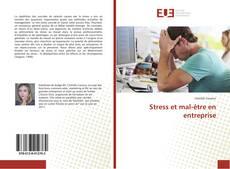 Bookcover of Stress et mal-être en entreprise