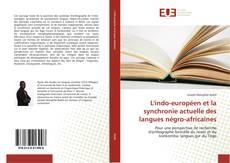 Couverture de L'indo-européen et la synchronie actuelle des langues négro-africaines