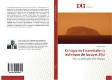 Portada del libro de Critique de l'essentialisme technique de Jacques Ellul