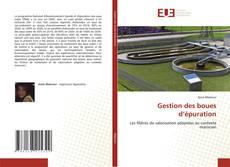 Bookcover of Gestion des boues d'épuration