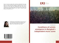 Capa do livro de Conditions of artistic emergence in Bangkok's independent music scene