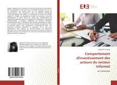 Обложка Comportement d'investissement des acteurs du secteur informel