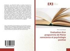 Capa do livro de Evaluation d'un programme de Pleine conscience et psychologie positive