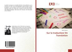 Sur la traduction/ 0n Translation kitap kapağı