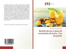 Buchcover von Qualité des jus à base de concentrés de fruits : Cas du jovino
