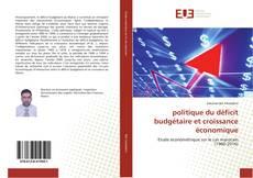Bookcover of politique du déficit budgétaire et croissance économique