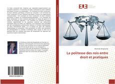 Buchcover von La politesse des rois entre droit et pratiques