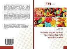 Capa do livro de Caractéristiques techno-fonctionnelles de la gélatine bovine