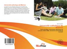 Buchcover von Université catholique de Malines