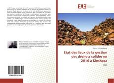 Capa do livro de Etat des lieux de la gestion des déchets solides en 2016 à Kinshasa