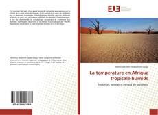 Couverture de La température en Afrique tropicale humide
