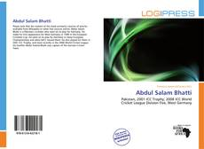 Bookcover of Abdul Salam Bhatti