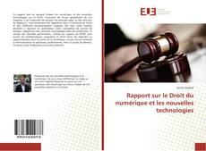 Rapport sur le Droit du numérique et les nouvelles technologies kitap kapağı