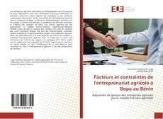 Borítókép a  Facteurs et contraintes de l'entreprenariat agricole à Bopa au Bénin - hoz