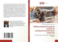 Portada del libro de Modes d'apprentissage et enjeux du professionnalisme dans l'informel