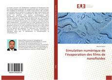 Portada del libro de Simulation numérique de l'évaporation des films de nanofluides