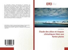 Buchcover von Étude des aléas et risques climatiques liées aux fortes pluies