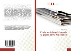 Couverture de Etude sociolinguistique de la presse ecrite Nigerienne