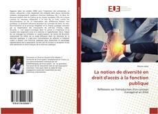 Bookcover of La notion de diversité en droit d'accès à la fonction publique