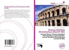 Bookcover of Gnaeus Domitius Ahenobarbus (Died 81 BC)
