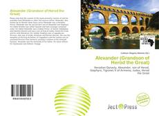 Bookcover of Alexander (Grandson of Herod the Great)