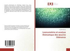 Portada del libro de Lexicométrie et analyse thématique des œuvres littéraires