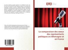 Bookcover of La comparaison des voeux des représentants politiques en Allemagne et en France