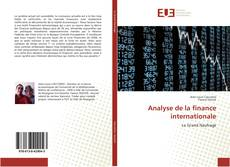 Bookcover of Analyse de la finance internationale