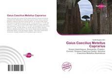 Borítókép a  Gaius Caecilius Metellus Caprarius - hoz