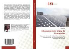 Capa do livro de Éthique comme enjeu de l'entreprise