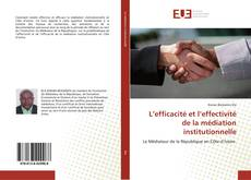Capa do livro de L'efficacité et l'effectivité de la médiation institutionnelle