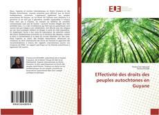 Capa do livro de Effectivité des droits des peuples autochtones en Guyane