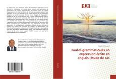 Обложка Fautes grammaticales en expression écrite en anglais: étude de cas