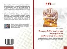 Responsabilité sociale des entreprises et performance financière kitap kapağı