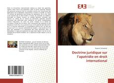 Capa do livro de Doctrine juridique sur l'apatridie en droit international