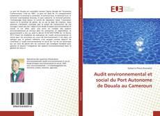 Bookcover of Audit environnemental et social du Port Autonome de Douala au Cameroun