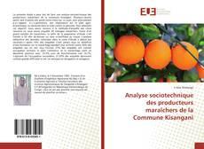 Capa do livro de Analyse sociotechnique des producteurs maraîchers de la Commune Kisangani