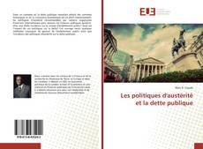 Les politiques d'austérité et la dette publique kitap kapağı