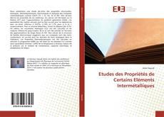 Обложка Etudes des Propriétés de Certains Eléments Intermétalliques