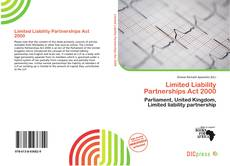 Capa do livro de Limited Liability Partnerships Act 2000