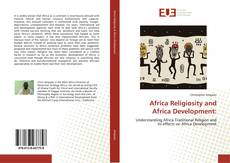 Portada del libro de Africa Religiosity and Africa Development: