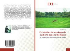 Couverture de Estimation du stockage de carbone dans la Biomasse