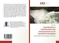 Couverture de Contribution à l'amélioration des connaissances sur la variabilité climatique
