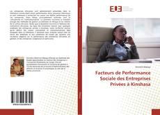 Portada del libro de Facteurs de Performance Sociale des Entreprises Privées à Kinshasa