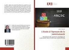 Bookcover of L'Ecole à l'épreuve de la communauté